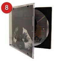 Slim jewel case with 2 page insert